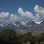 Snow and clouds on the Sierra Nevada