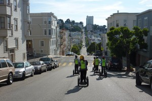 Segways handle the hills with ease