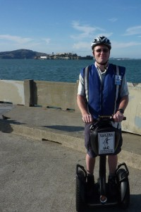 Segway stands still for the photo