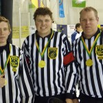 Gold medal officials Tristan, Ryan and Ross