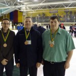 Bronze medal officials Duncan, me and Matt