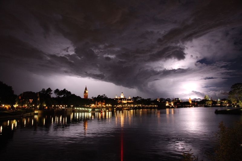 Lightning over Epcot