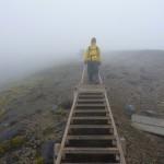Descending through cloud